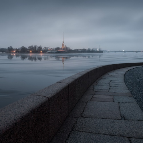 Russia : Saint Petersburg : typical morning
