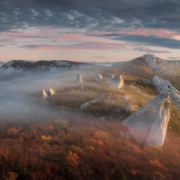 Crimea : sunrise at_Sun temple